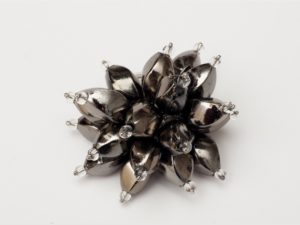 Flower Power Cocktail Ring in Gunmetal