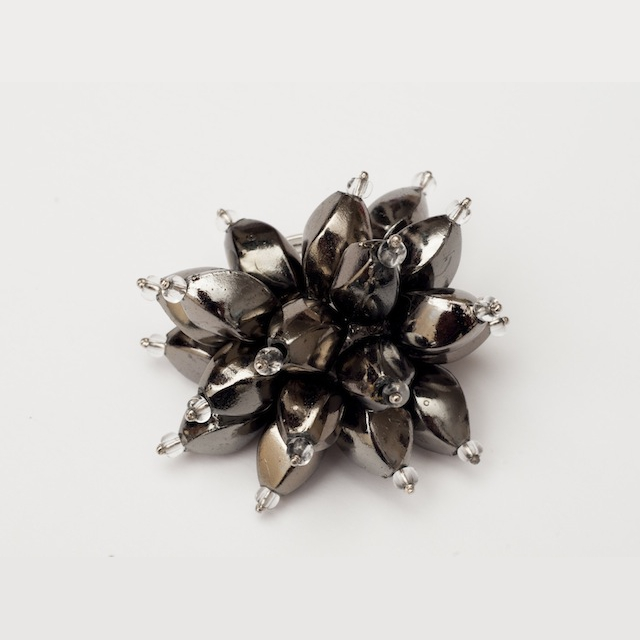 Flower Power Cocktail Ring in Gunmetal