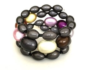 Libby Bracelet in Black & Burberry Mix