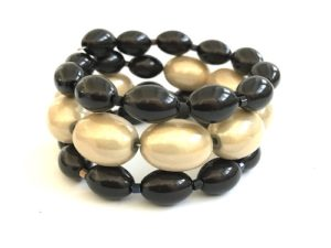 Libby Bracelet in Cream and Black