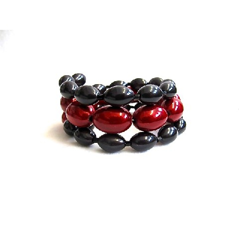 Libby Bracelet in Black & Red