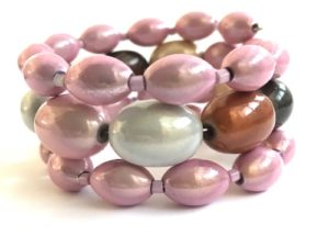 Libby Bracelet in Pink & Burberry Mix