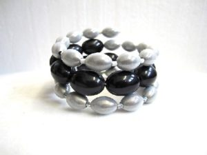 Libby Bracelet in White & Black