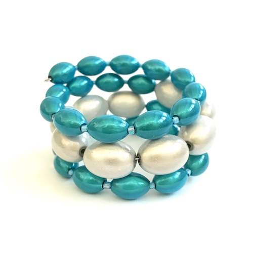 Libby Bracelet in White and Turquoise