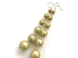 Dangly Long Earrings in Cream