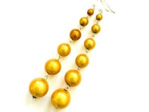 Dangly Long Earrings in Lemon Yellow