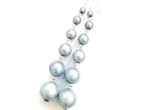 Dangly Long Earrings in Light Blue