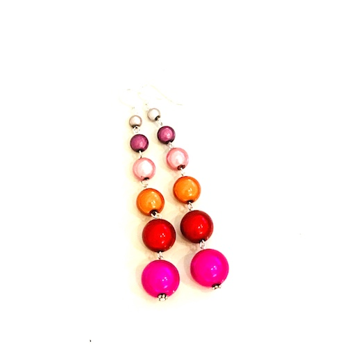 Dangly Long Earrings in Multicolor 3