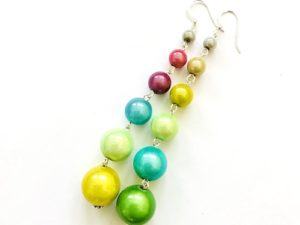 Dangly Long Earrings in Multicolor 5