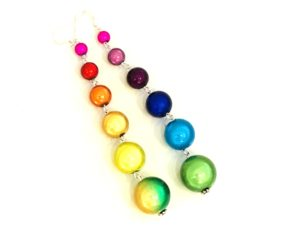 Dangly Long Earrings in Multicolor 1