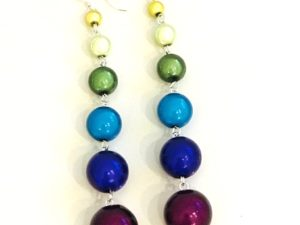 Dangly Long Earrings in Multicolor 4