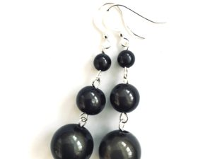 Short Dangly Black Earrings