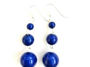 Short Dangly Dark Blue Earrings