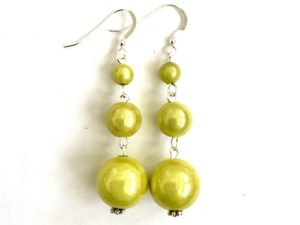 Short Dangly Lemon Yellow Earrings