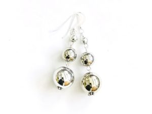 Short Dangly Metallic Earrings
