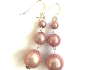 Short Dangly in Pink Earrings