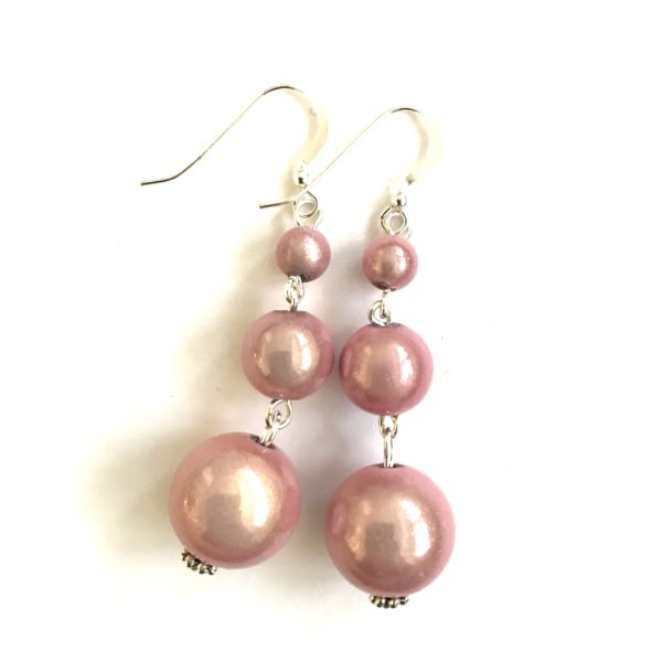 Short Dangly in Pink Earrings