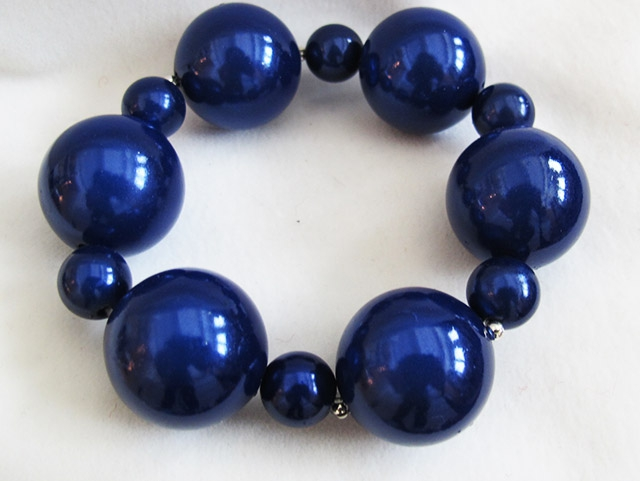 Bubble Bracelet in Dark Blue