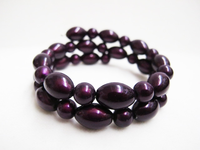 Double Bracelet in Dark Purple
