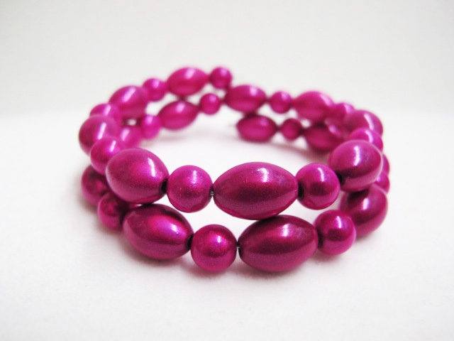 Double Bracelet in Fuchsia