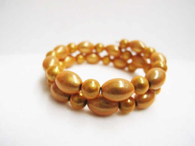 Double Bracelet in Golden Yellow