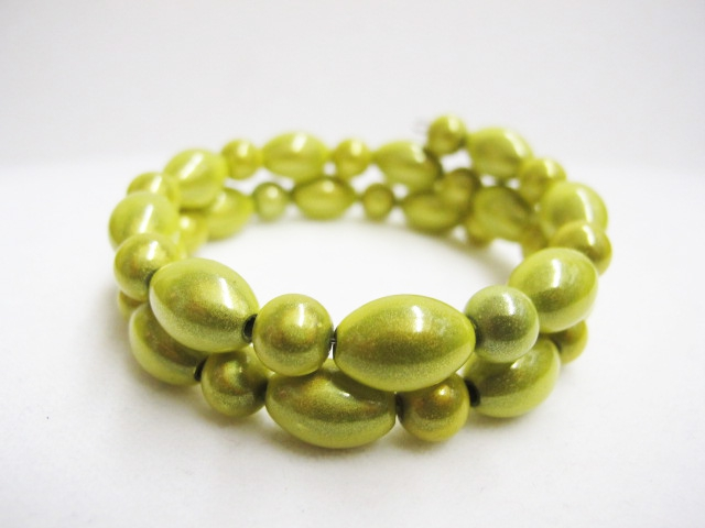 Double Bracelet in Lime Green