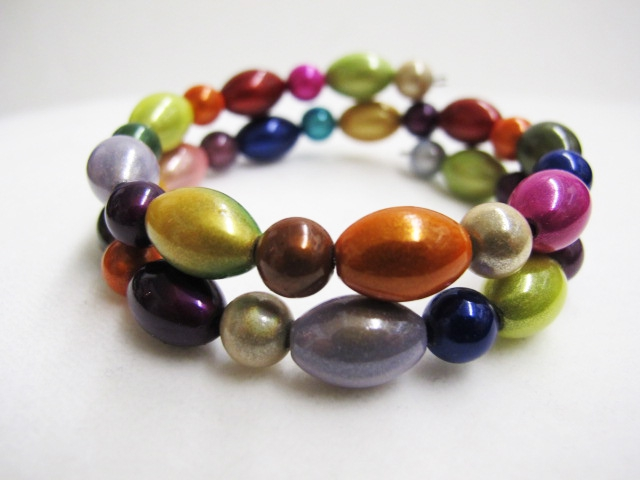 Double Bracelet in Multicolor