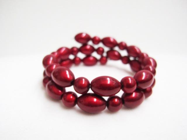 Double Bracelet in Red