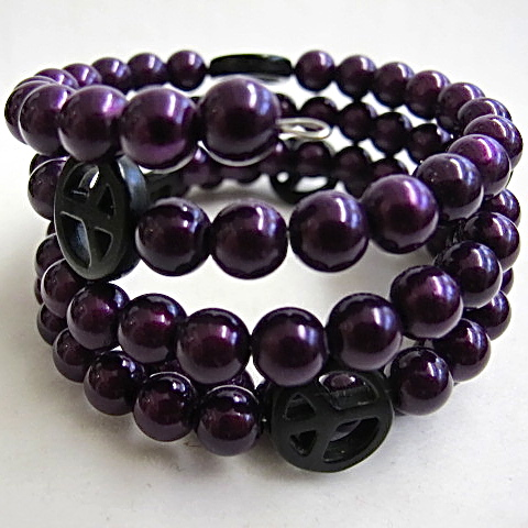 Peace Bracelet in Dark Purple
