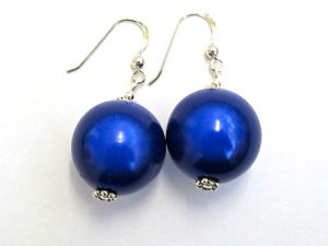 Anna Earrings in Dark Blue