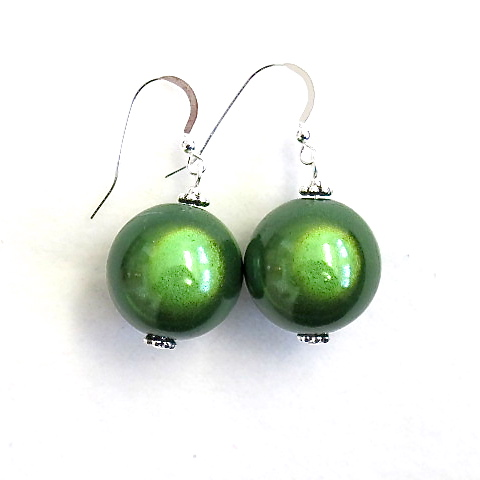 Anna Earrings in Green