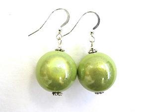 Anna Earrings in Lime Green
