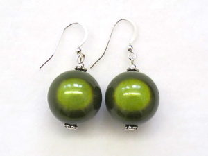 Anna Earrings in Moss Green
