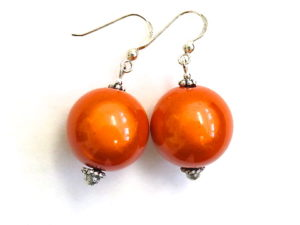 Anna Earrings in Orange