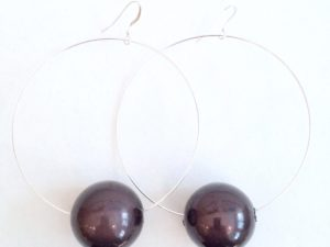 Viki Hoops in Black