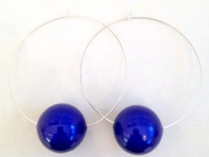 Viki Hoops in Dark Blue
