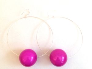 Viki Hoops in Fushia