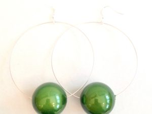 Viki Hoops in Green