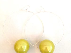 Viki Hoops in Lemon Yellow