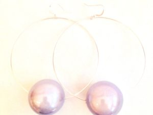 Viki Hoops in Light Violet