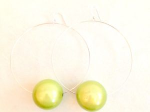 Viki Hoops in Lime Green