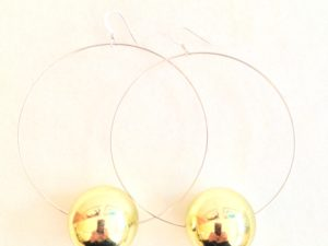 Viki Hoops in Golden Metallic