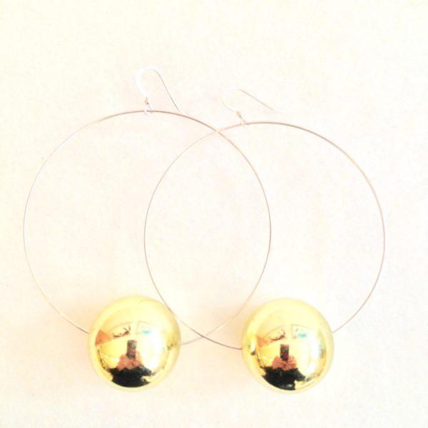 Viki Hoops in Golden Metallic