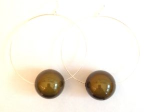 Viki Hoops in Moss Green