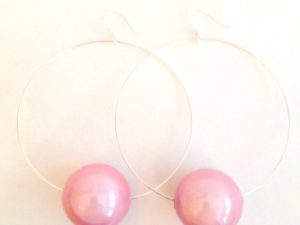 Viki Hoops in Pink