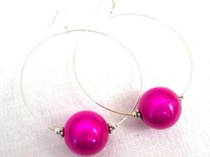 Viki Hoops in Fuchsia