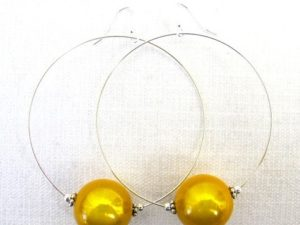 Viki Hoops in Golden Yellow