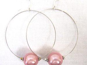 Viki Hoops in Pink