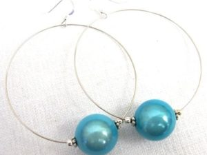 Viki Hoops in Turquoise