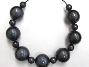 Bubble Necklace in Black